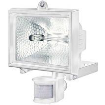Electraline 63007 Projecteur halogène avec détecteur/ampoule 400 W Blanc - Eclairage de chantier