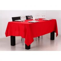 NAPPE ANTITACHE 140X240CM Rouge - Linge de table