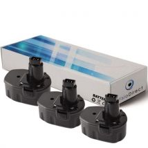 Lot de 3 batteries pour walt 2852B 2861K-2 2872B 2872K-2 2872KQ 3300mAh 12V -VISIODIRECT- - Chargeurs, batteries et socles