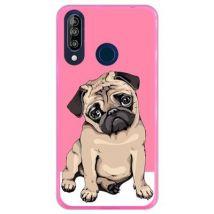 Hapdey Funda Rosa Para Wiko View3 - Wiew 3, Diseño Cachorros Beige Pug Posando 1