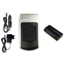 Batería + Cargador Crv-3 Para Konica Minolta Digital Revio Kd-200z, Kd-210z, Kd-220z