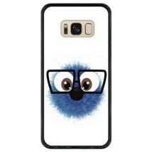 Funda Hapdey Para Samsung Galaxy S8, Diseño Monstruo - Cosa Azul Peluda Graciosa, Silicona Tpu