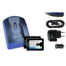 2 Baterìas + Cargador (usb/coche/corriente) Bn-vg114 Para Jvc Gz-hm310, Hm320, Hm330, Hm334