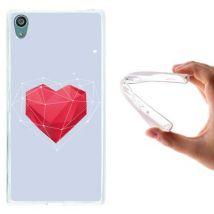 Funda Sony Xperia Z5 Premium, Woowcase [ Sony Xperia Z5 Premium ] Funda Silicona Gel Flexible Corazón Abstracto Rojo, Carcasa Case Tpu Silicona -
