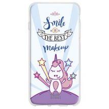 """Funda De Silicona Techcool Para Huawei Y6 Ii Compact L Frases Unicornios """"smile Is The Best Makeup"""" Diseños Ilustraciones 2"""