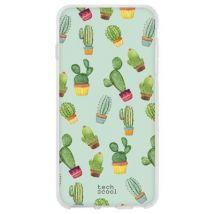 Funda De Silicona Techcool Para Zte Axon 7, Cactus Patrones Fondo Verde