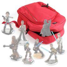 Mochila Roja Para Guardar / Organizar Las Figuritas Disney Infinity 3.0 - Star Wars + Funda Impermeable - Con Asas Regulables Por Duragadget