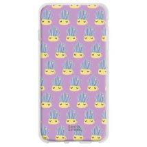 Funda De Silicona Techcool Para Samsung Galaxy Note 10 L Cactus Macetas Fondo Morado