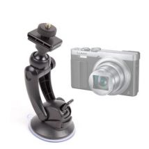 Soporte Con Potente Ventosa Para Panasonic Lumix Dmc - Ts30 Ts6 Tz57 Tz70 Zs45 Zs50 + Adaptador Con Tornillo Universal - Duragadget