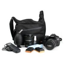 Mochila Bandolera Con Compartimentos Para Cámara Canon 1200d Resistente Al Agua + Gamuza Limpiadora - Duragadget