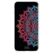 Funda De Silicona Techcool Para Sony Xperia 5 L Diseño Mandalas Geométrico Vers.3 Fondo Negro