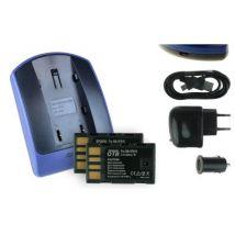 2 Baterìas + Cargador (usb/coche/corriente) Bn-vf815 Para Jvc Gz-mg610, Mg630, Mg633, Mg634