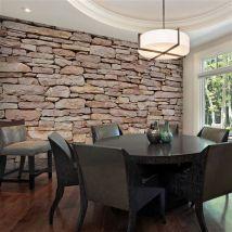 Papier peint - Mur de pierre naturelle - Décoration, image, art | Fonds et Dessins | Pierre | - Décoration des murs