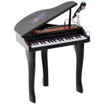 Piano à queue électronique 37 touches multifonctions avec micro haut parleur noir - Instruments de musiques