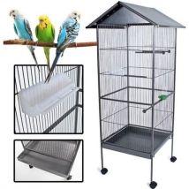 Poils + plumes oiseau cage a oiseau kuikui en metal - hauteur 155 cm - Cages et Accessoires oiseaux