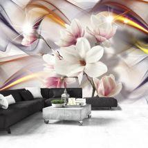 Papier peint | Artistic Magnolias | 150x105 | Fleurs | Magnolias - Décoration des murs