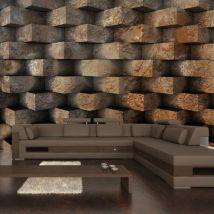 Papier peint - Entrelacs de brique - Décoration, image, art | Fonds et Dessins | Brique | - Décoration des murs