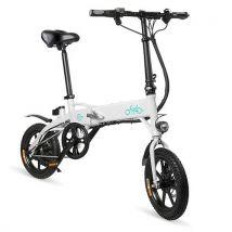 Vélo Assistance Electrique FIIDO D1 Pliant eBike 250W Moteur 25km/h 7.8Ah, Blanc - Vélos