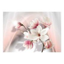 Papier peint - White magnolias .Taille : 350x245 - Décoration des murs