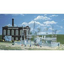 Walthers Cornerstone Series Kit HO Scale Northern Light Power Substation Accessories - Circuit et accessoires train en bois