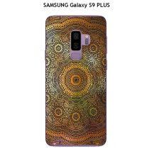 Onozo - Coque SAMSUNG Galaxy S9 PLUS design Mandala rosace Or & Noir - Etui pour téléphone mobile