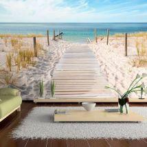 Papier peint - Vacances au bord de la mer .Taille : 150x105 - Décoration des murs