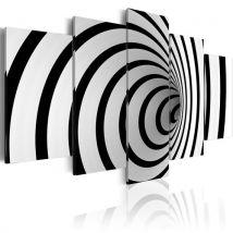 Tableau - Vortex blanc et noir - Artgeist - 200x100 - Décoration murale