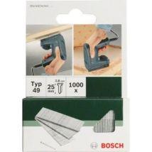 Bosch 2609255816 Set De 1000 Clous D'Agrafage Type 49 Longueur 19 Tête Largeur 2,8 Mm Epaisseur 1,65 - Clous, vis et fixations