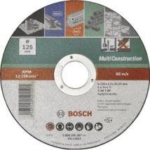Bosch 2609256306 Disque À Tronçonner À Moyeu Plat Multi Construction Diamètre 115 Mm Diamètre D'alésage 22/23 Mm Epaisseur 1 Mm
