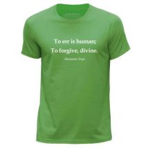 STUFF4 Hommes/X Grande (XL)/Vert/Col Rond T-Shirt/Citation de Alexander Pope - T-Shirt