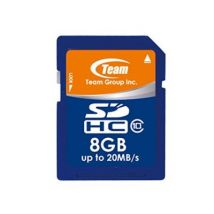 Teamgroup tsdhc8gcl1001 carte mémoire sd classe 10 8 go - Caméscope à carte mémoire