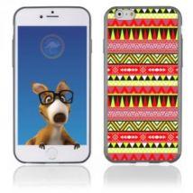Coque Souple En Gel Pour Apple Iphone 6 Avec Impression Aztèque Jaune Et Rouge