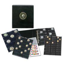 Album pour 134 monnaies de diamètres variés - Monnaie / Pièce