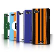 Coque de Stuff4 / Coque/Etui/Housse pour Sony Xperia E3 / Pack 7pcs / Rayures Voiture Course Collection - Etui pour téléphone mobile