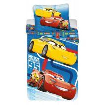 Cars Disney Bleu - Parure de Lit Enfant - Housse de Couette Coton - Parures de lit