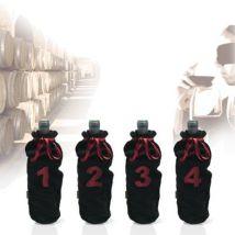 Vin bouquet - sacs de dégustation de vin à l?aveugle x4 - Accessoire cave à vin