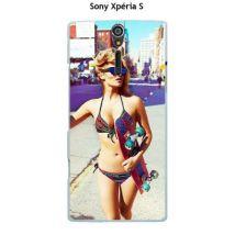 Coque Sony Xpéria S design Femme sexy avec skate dessin - Etui pour téléphone mobile