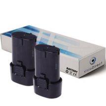 Lot de 2 batteries pour Makita DF010DSE perceuse visseuse 1500mAh 7.2V - Visiodirect - - Chargeurs, batteries et socles