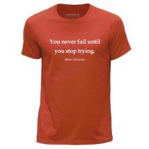 STUFF4 Hommes/XXX Grande (3XL)/Orange/Col Rond T-Shirt/Citation de Albert Einstein - T-Shirt