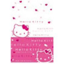 Nappe en polythène Hello Kitty blanche et rose - Article de fête