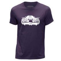 STUFF4 Hommes/Grand (L)/Violet/Col Rond T-Shirt/Stencil Art de voiture / K Agera - T-Shirt
