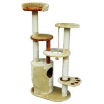 Arbre à chat griffoir 140CM brun et beige - Paniers et mobilier pour chat