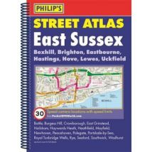 Philip's Street Atlas East Sussex: Spiral Edition - [Version Originale] - poche