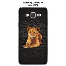 Coque Samsung Galaxy J7 - SM-J700F Baby lion - Etui pour téléphone mobile
