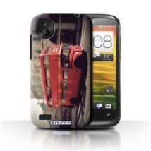 Coque de Stuff4 / Coque/Etui/Housse pour HTC Desire V / Rouge Bus Design / Londres Angleterre Collection - Etui pour téléphone mobile