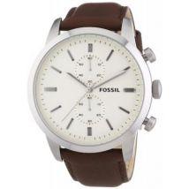 Montre Fossil FS4865 - Montre Cuir Marron Chronographe Homme - Montre Homme