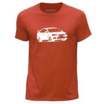 STUFF4 Hommes/Grand (L)/Orange/Col Rond T-Shirt/Stencil Art de voiture / Evo X/10 - T-Shirt