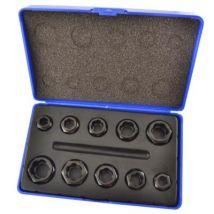 L'écrou du boulon 10pc Style Twist Lock Nut Remover Set - Extracteurs
