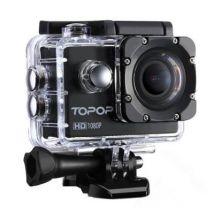 Caméra Sports Caméra embarquée étanche 30m Haute Définition/Caméra Action Sport avec 12MP image, Full HD 1080p à 30fps Vidéo,170 °Grand-Angle,30m Etan