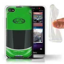 Coque Gel TPU de Stuff4 / Coque/Etui/Housse pour Blackberry Z30 / Superbike/Vert Design / Casque Moto Collection - Etui pour téléphone mobile